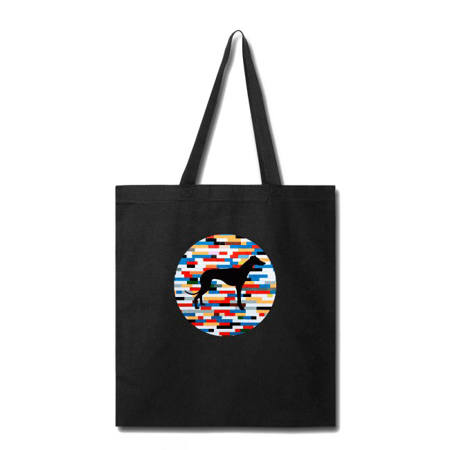 Tote Bag Greyhound Lego Silhouette